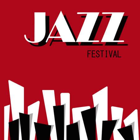 Jazz Festival vector illustration.Cartoon style.