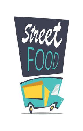 Street food.Cartoon vector illustration.