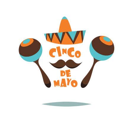 Cinco De Mayo.Vector illustration for web.Cartoon style.