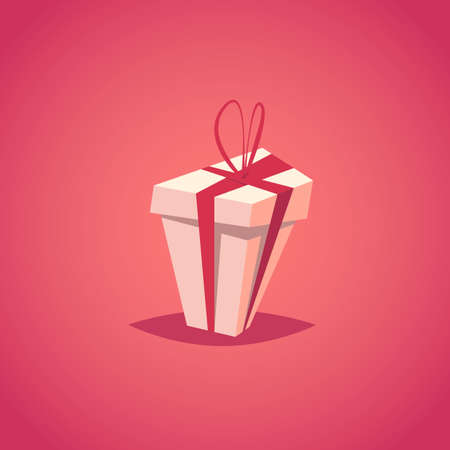 Gift box.Present box vector illustration.Cartoon style. Illustration