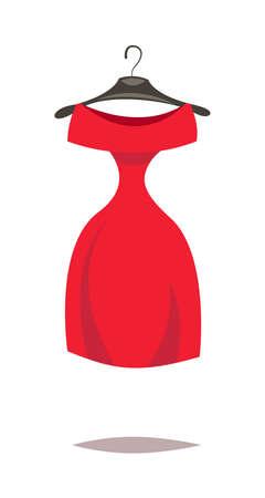 Dress.Cartoon vector illustration.