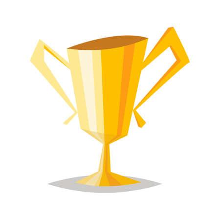 Winner cup.Cartoon vector illustration.