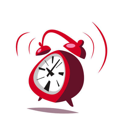 Cartoon alarm clock.Vector illustration.