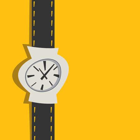 Vector illustration of watch.Cartoon style. Ilustração