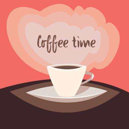 Coffee time.Vector illustration.Cartoon style. Imagens - 104936035