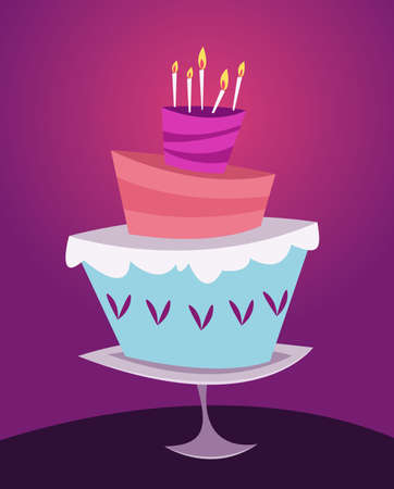 Dessert cake.Cartoon style.Vector illustration for web.Happy birthday. Imagens - 104936036