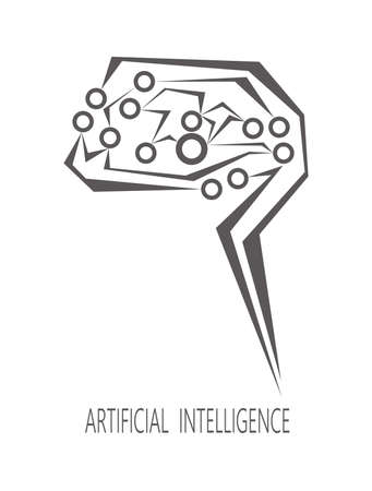Artificial intelligence.Vector illustration.logo. Imagens - 104936141