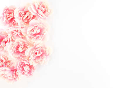 Pink Peony Flowers Cascading on a White Styled Desktop  - Silk Artificial Flowers - Crafts