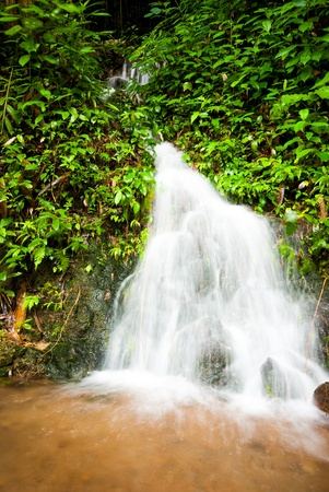 Punyaban Waterfall of Rainy Seasonat Ranong,Thailand photo