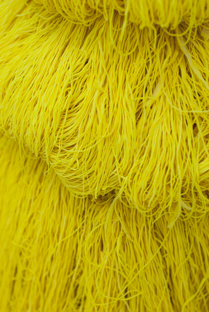 Yellow noodles egg , isolated on background  photo