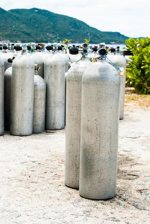 aqualung: Metallo immersioni subacquee bombole di ossigeno - Aqualung