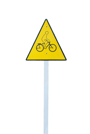 bicycle sign isolated on white background  photo