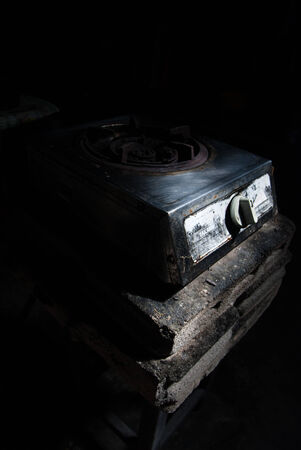 old gas stove: Old gas stove for cooking