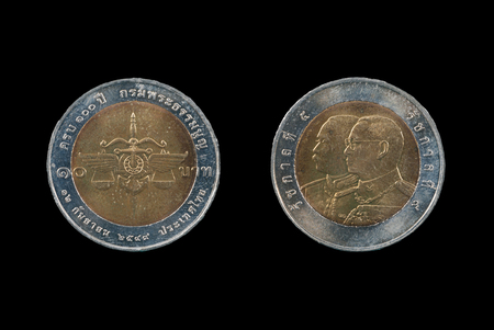 Coin of Thailand ,Ten baht coins photo