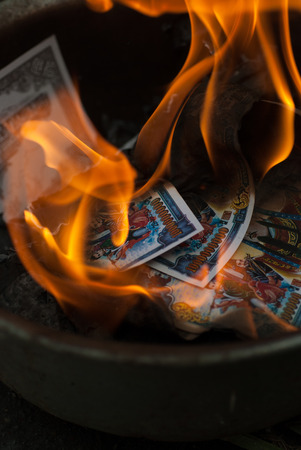 money to burn: ancestor Worship on Chinese New Year and burning paper gold