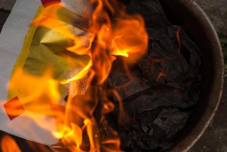 przodek: Ancestor Worship on Chinese New Year and burning paper gold