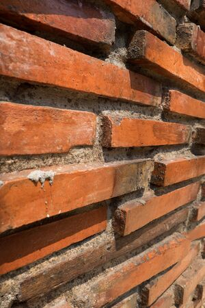 diminishing perspective: Brick wall with diminishing perspective ,close up Stock Photo