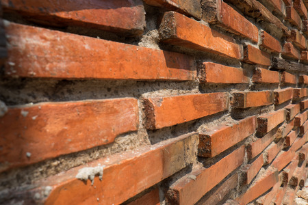 diminishing: Brick wall with diminishing perspective ,close up Stock Photo