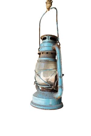 hurricane lamp: kerosene lamp isolated on white background Stock Photo