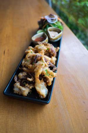 sauce bowl: Fried Calamari with Sauce Bowl, fried squid