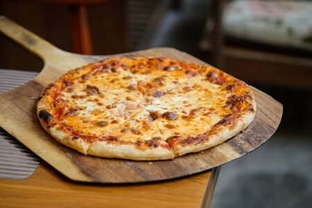 pizza with cheese Delicious fresh.Pizza margarita ,Homemead