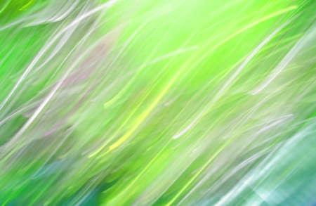 Green bright defocused lights garlands, abstract colored background 写真素材 - 167128818