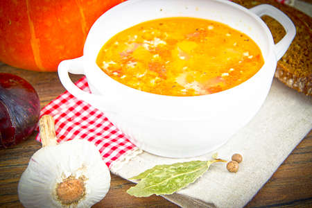 Vegetable Pumpkin Soup Dietary Cuisine Studio Photo
