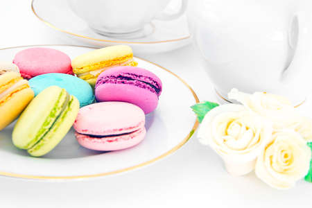 Sweet and Colourful French Macaroons. Stodio Photo
