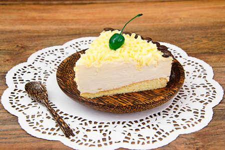 Homemade Cakes: Vana Tallin Cake on Plate. Studio Photo