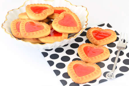 Cookies in the Shape of Hearts. Studio Photo