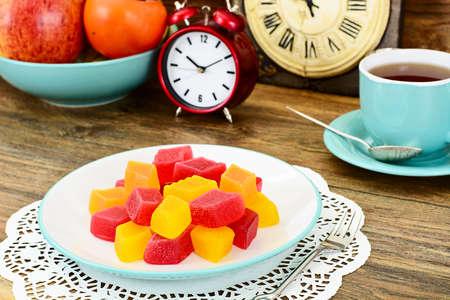 fruit jelly: Tasty Sweet Candied Fruit Jelly Studio Photo