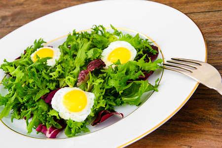 Salad Mix Batavian, Frise, Radicchio, Chicory, Dietary Mel and Egg Studio Photo