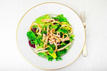 dietary: Salad Mix Batavian, Frise, Radicchio, Chicory and Squid Dietary Meal