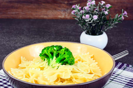 Pasta and Broccoli Diet Food Studio Photo