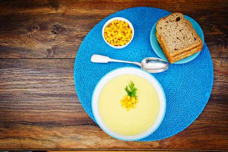 Soup of Mashed Potato with Corn Studio Photo