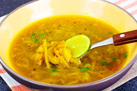 thai ethnicity: Indian Onion Soup, Curry, Shili Studio Photo