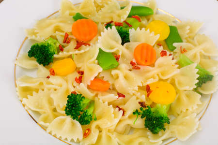 Farfalle Pasta, Sausage and Broccoli Diet Food Studio Photo