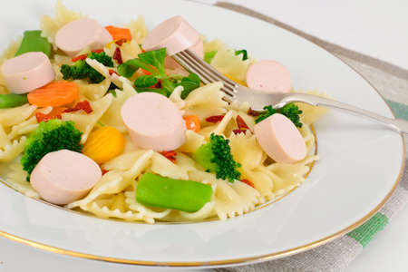 Farfalle Pasta, Sausage and Broccoli Diet Food Studio Photo