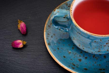 indigenous medicine: Cup of Tea on Dark Background Studio Photo