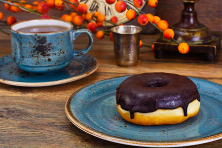 Delicious Sweet Chocolate Donut Studio Photo