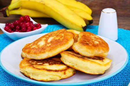 Pancakes with Kumquats and Cranberries Studio Photo