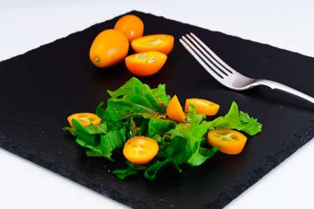 Salad of Wild Garlic with Kumquats Studio Photo