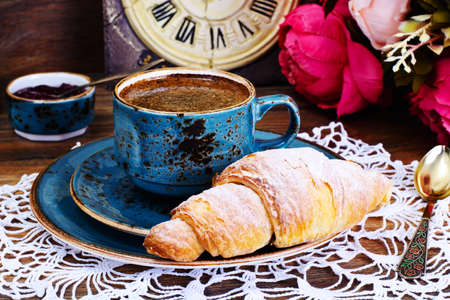 danish: Tasty Sweet Croissant Studio Photo