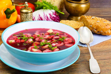 Soup from Beet, Tomatoes and Celery Studio Photo