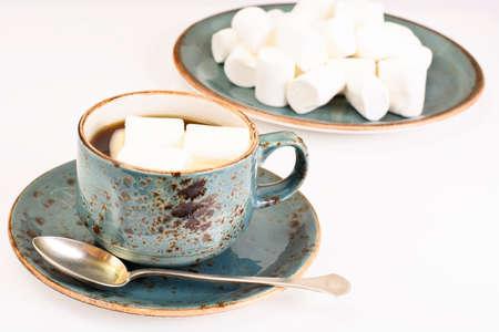 comfort food: Cocoa, Coffee with Marshmallows Sweet Food Studio Photo