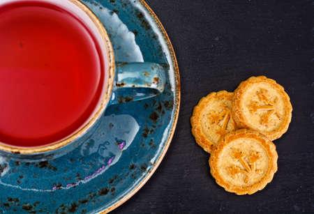 rooibos: Red Tea in Beautiful Cup. Studio Photo
