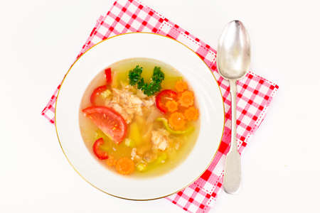 Fish Soup with Trout and Vegetables Studio Photo