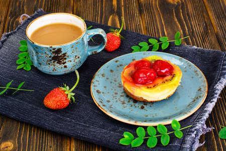 Cake with Strawberries and Kiwi Studio Photo