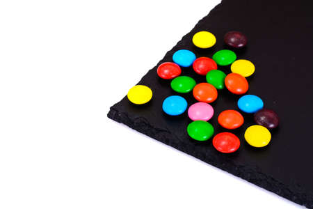 bonbons: Sweet Bonbons Candy on Dark Background Studio Photo