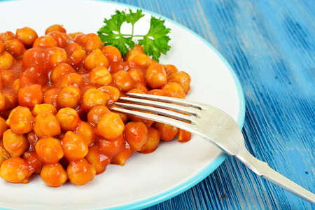 Chickpea in Curry Studio Photo